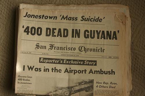 1978: JONESTOWN, GUYANA, MASSACRE: A Planned Military ...