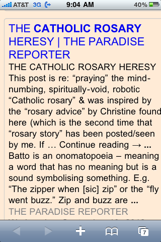 Rosary | THE PARADISE REPORTER